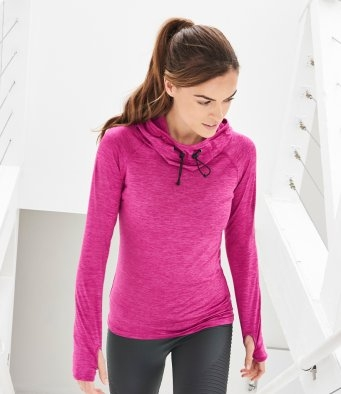 Cowl Neck Fitness Top